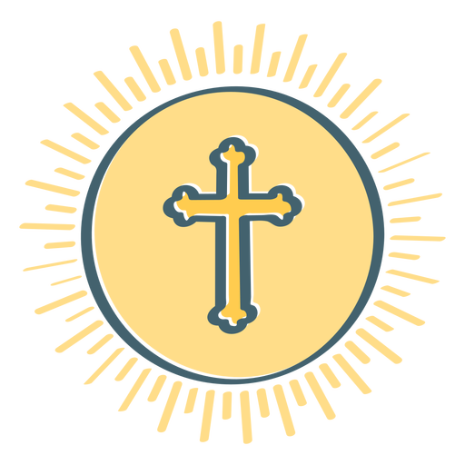 Cross medallion flat