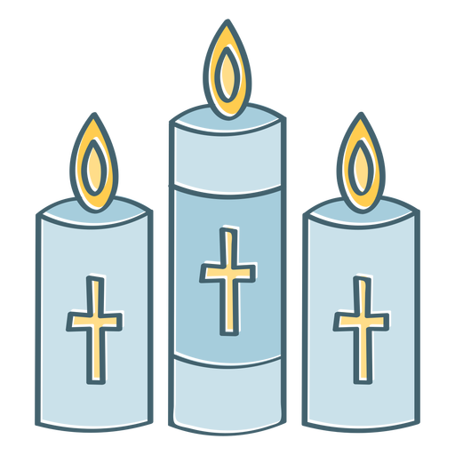 Candles with crosses color stroke
