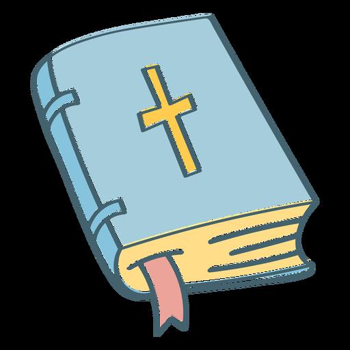 Closed bible color stroke