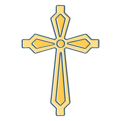 Yellow cross color stroke