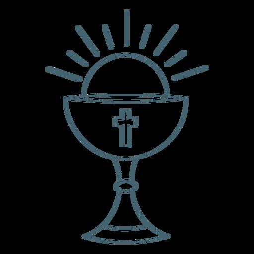 Communion chalice stroke