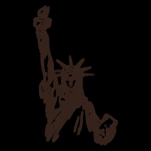 Statue of liberty hand drawn