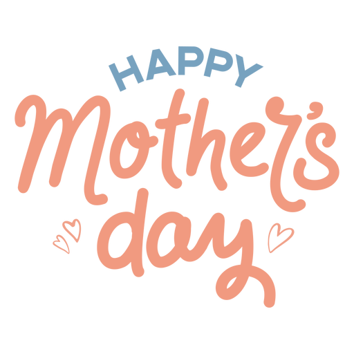 Happy mother's day pastel lettering sign