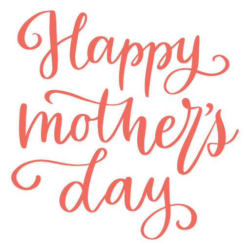 Happy mother's day cursive lettering