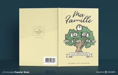 Diseño de portada de libro de árbol genealógico