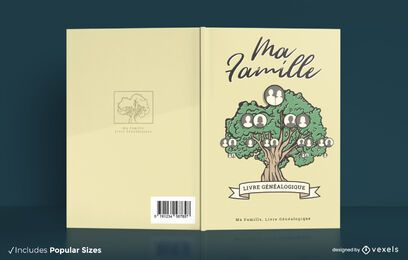 Family tree book cover design