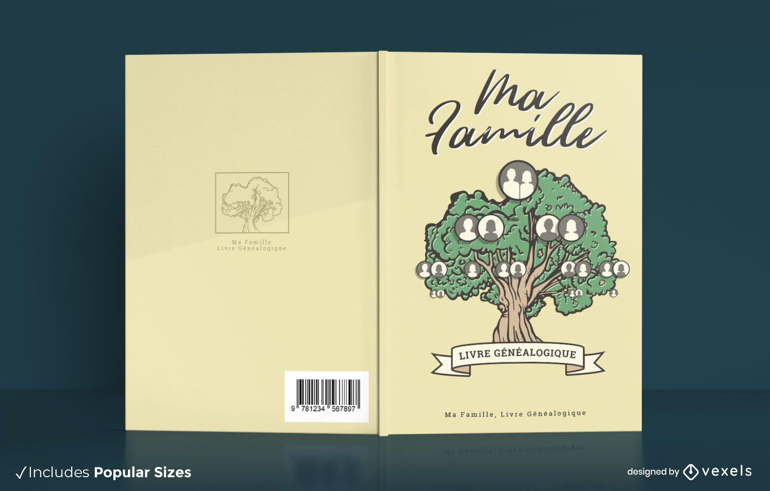 Family tree book cover design