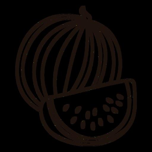 Round watermelon stroke