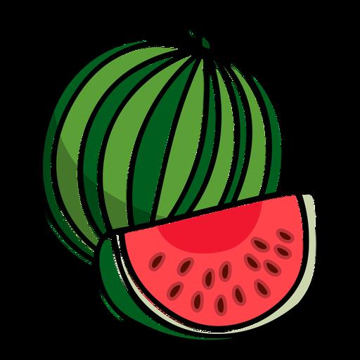 Watermelon slice sweet fruit