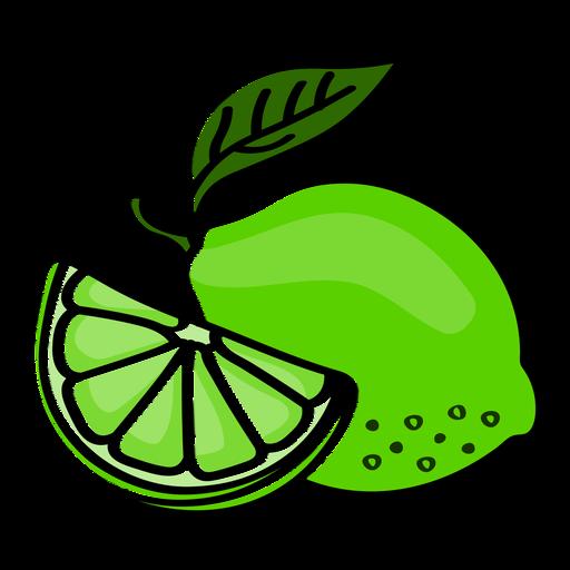 Lime healthy fruit slice