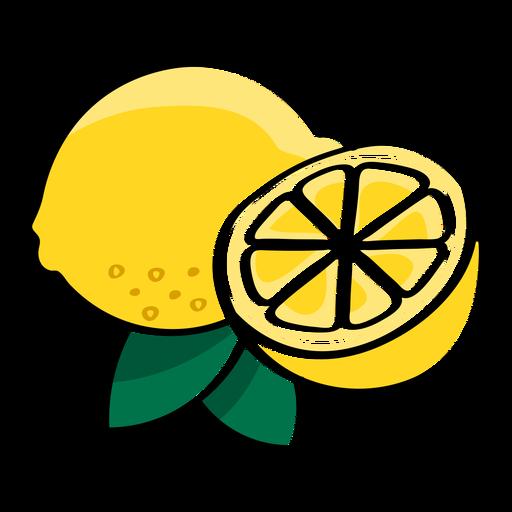 Lemon fruit healthy slices