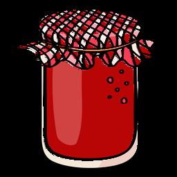 Jam jar strawberry flavor