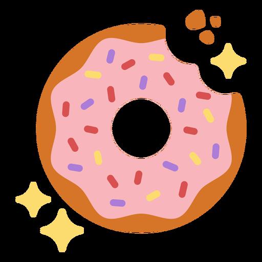 Sparkly donut flat