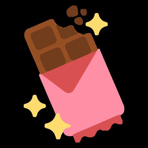 Sparkly chocolate bar flat