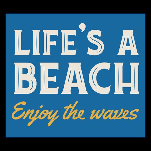 Summer vacation beach sign