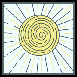 Shining sun nature tile