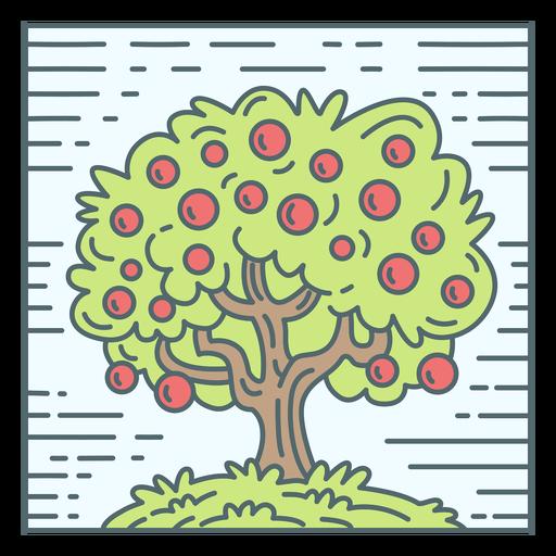 Apple tree nature tile