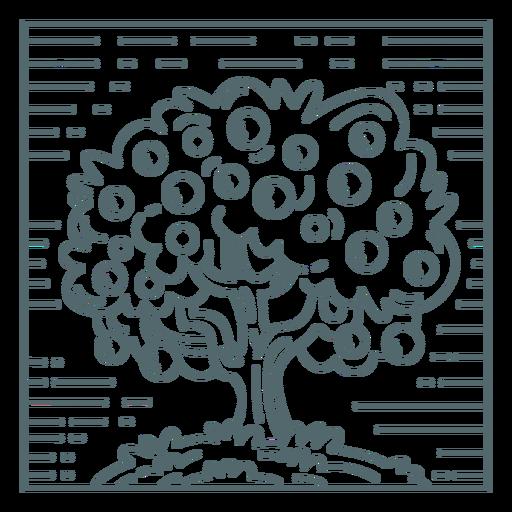 Apple tree nature stroke