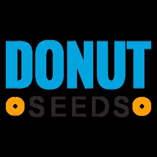 Donut sweet food logo