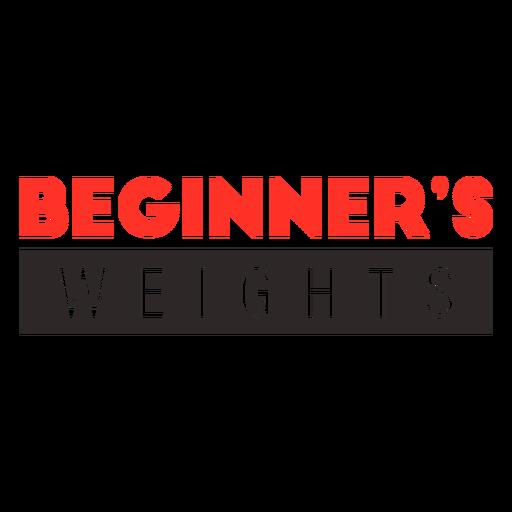 Weightlifting beginner badge
