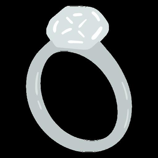 Engagement diamond ring flat
