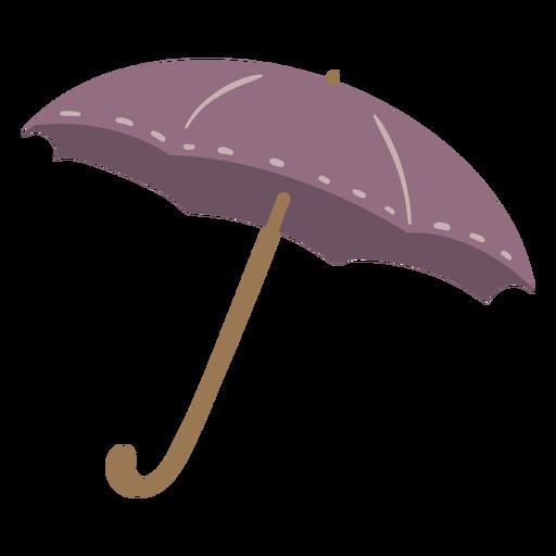 Purple umbrella semi flat