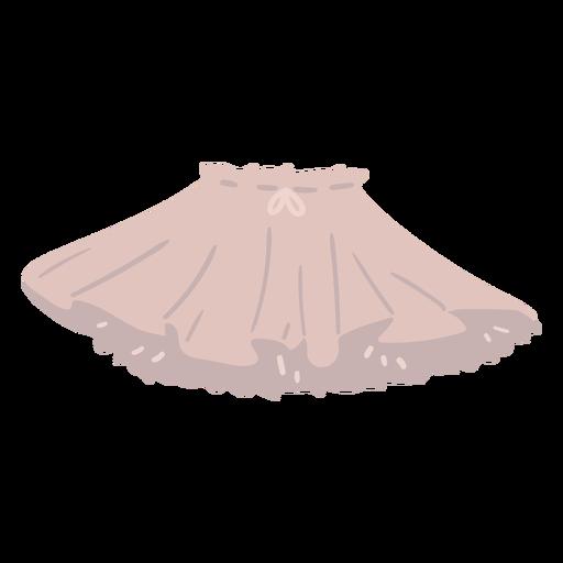 Puffy skirt semi flat