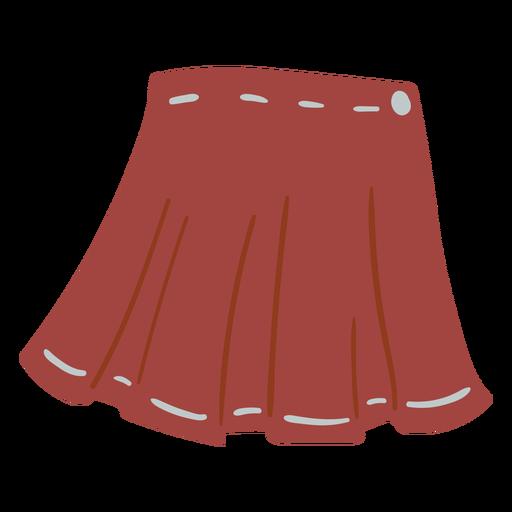 Mini skirt flat