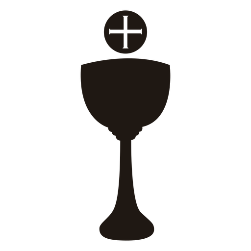 Christian cup and cross