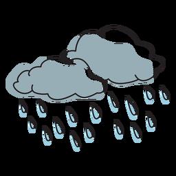 Rainy clouds color stroke