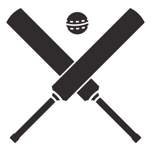 Cricket bats and ball cut out