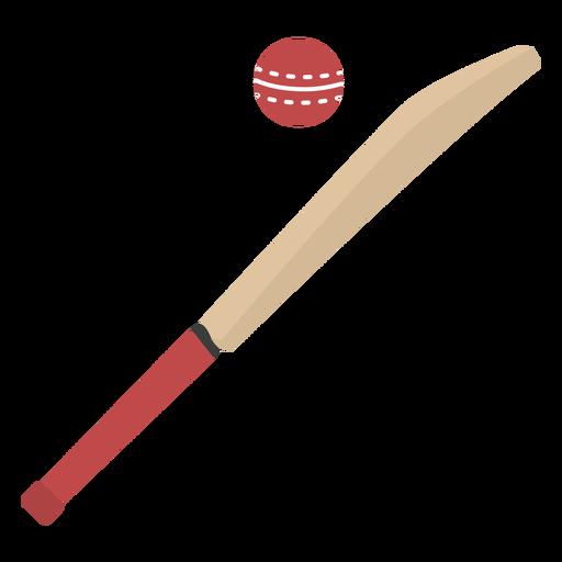 Cricket bat and ball semi flat