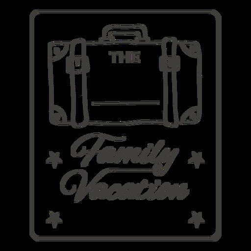 Family vacation label stroke