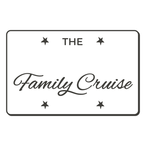 The family cruise label filled stroke