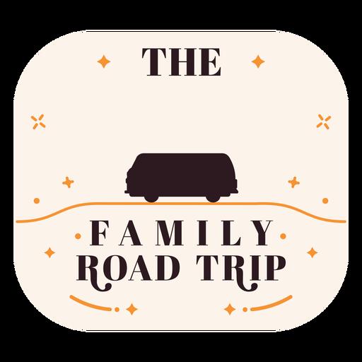 Family road trip badge
