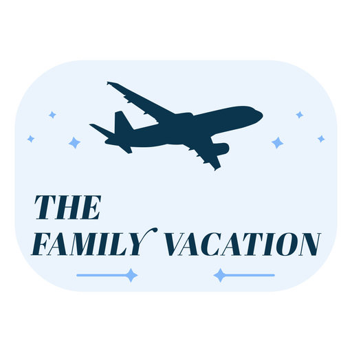Family vacation airplane badge