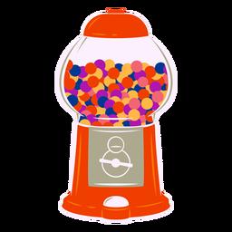 Bubblegum machine semi flat