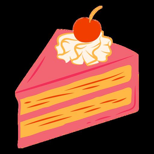 Cherry cake slice sweet dessert