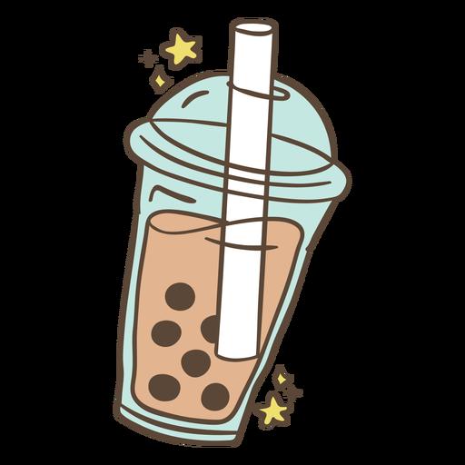 Ilustração de chá Boba