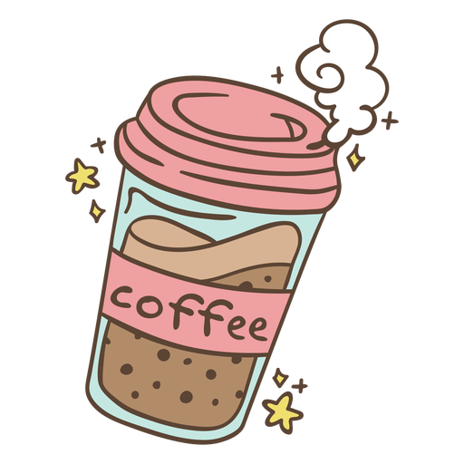 Ice coffee pink cup