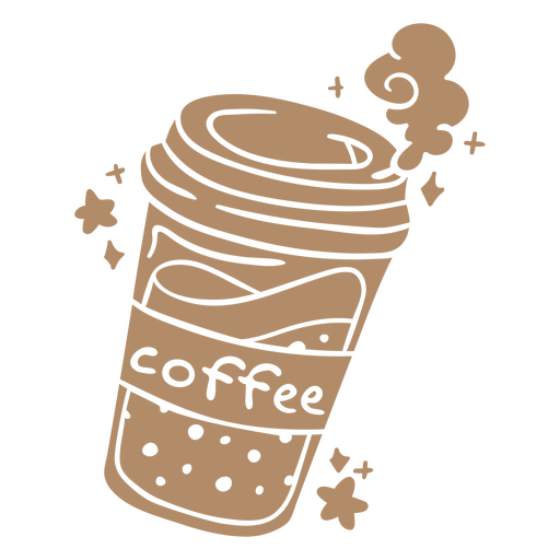 Ice coffee cup cut out