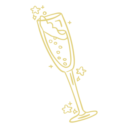 Champagne glass doodle