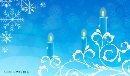 Weihnachtskerzen mit Strudeln