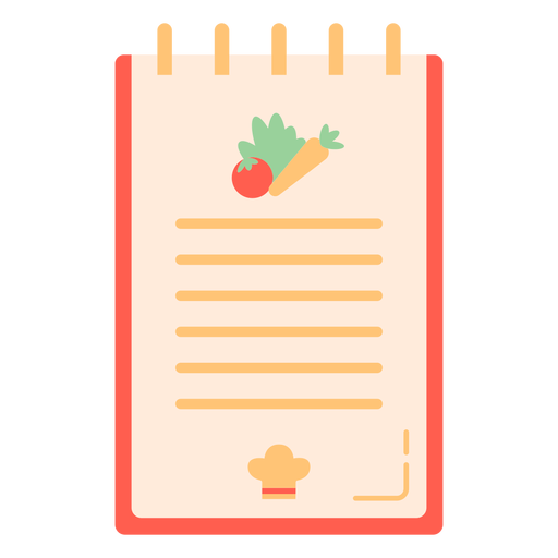 Cooking vegetables notebook