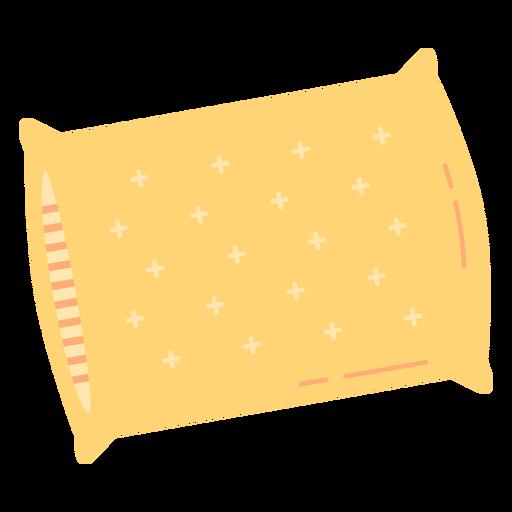 Yellow pillow sleeping