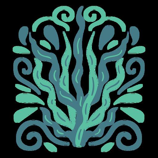 Light blue organic pattern flat