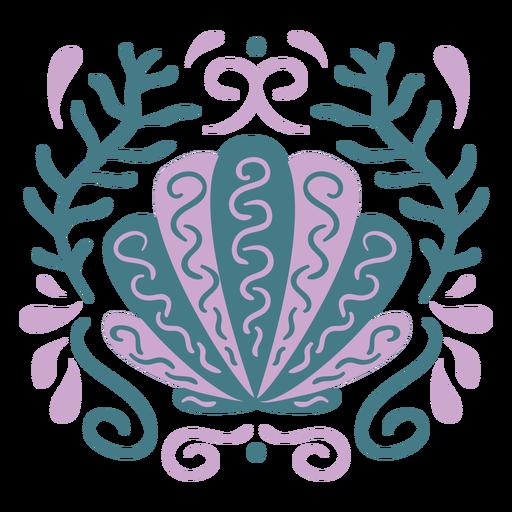 Ocean shell swirls