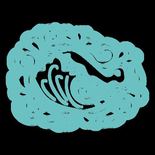 Organic wave pattern cut out