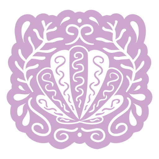 Purple oyster design cut out