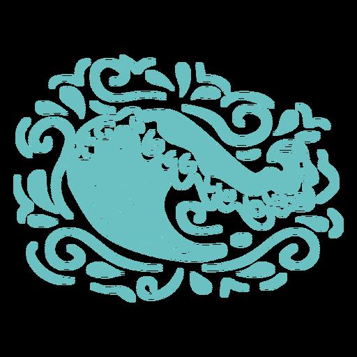 Ocean waves swirls